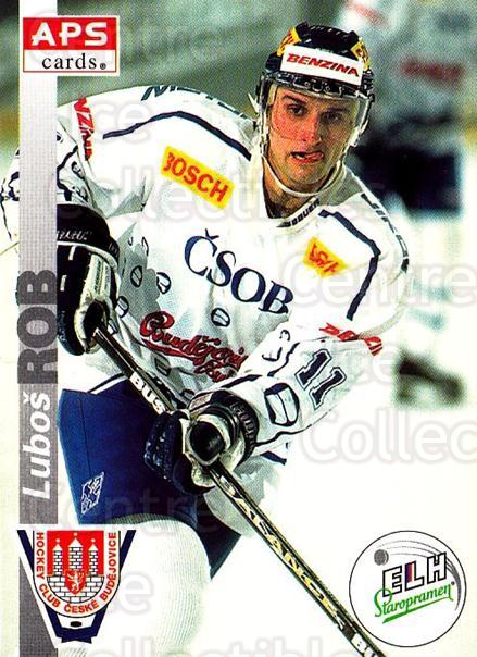 1996-97 Czech APS Extraliga #252 Lubos Rob<br/>2 In Stock - $2.00 each - <a href=https://centericecollectibles.foxycart.com/cart?name=1996-97%20Czech%20APS%20Extraliga%20%23252%20Lubos%20Rob...&quantity_max=2&price=$2.00&code=608444 class=foxycart> Buy it now! </a>