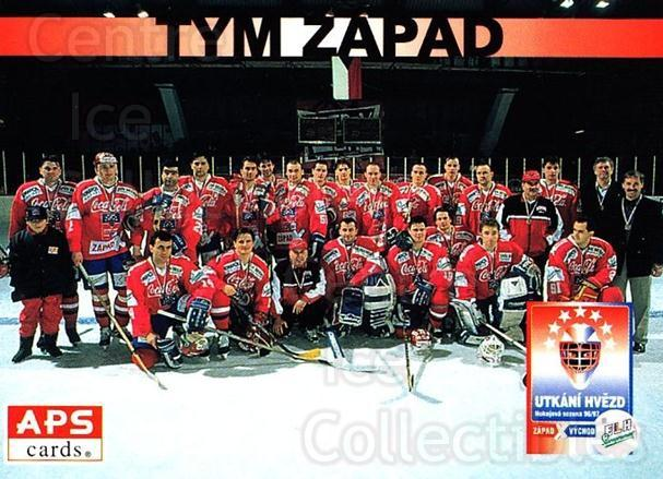 1996-97 Czech APS Extraliga #408 Team West, Team Photo<br/>1 In Stock - $2.00 each - <a href=https://centericecollectibles.foxycart.com/cart?name=1996-97%20Czech%20APS%20Extraliga%20%23408%20Team%20West,%20Team...&quantity_max=1&price=$2.00&code=608600 class=foxycart> Buy it now! </a>