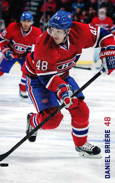 2013-14 Montreal Canadiens Postcards Stanley Cup #5 Daniel Briere<br/>1 In Stock - $3.00 each - <a href=https://centericecollectibles.foxycart.com/cart?name=2013-14%20Montreal%20Canadiens%20Postcards%20Stanley%20Cup%20%235%20Daniel%20Briere...&quantity_max=1&price=$3.00&code=608678 class=foxycart> Buy it now! </a>