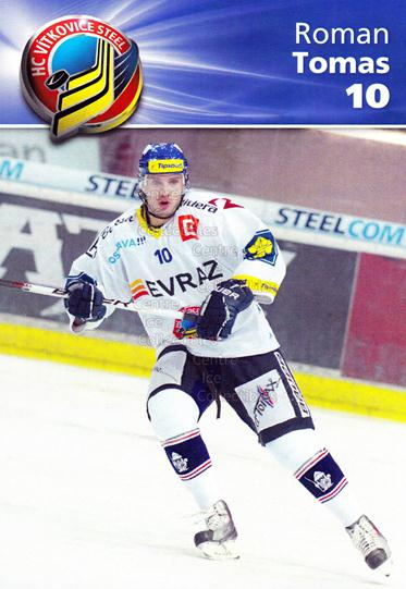 2010-11 Czech HC Vitkovice Steel Postcards #5 Roman Tomas<br/>2 In Stock - $3.00 each - <a href=https://centericecollectibles.foxycart.com/cart?name=2010-11%20Czech%20HC%20Vitkovice%20Steel%20Postcards%20%235%20Roman%20Tomas...&quantity_max=2&price=$3.00&code=608791 class=foxycart> Buy it now! </a>