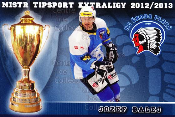 2012-13 Czech HC Plzen Team Issue #1 Jozef Balej<br/>2 In Stock - $3.00 each - <a href=https://centericecollectibles.foxycart.com/cart?name=2012-13%20Czech%20HC%20Plzen%20Team%20Issue%20%231%20Jozef%20Balej...&quantity_max=2&price=$3.00&code=608862 class=foxycart> Buy it now! </a>