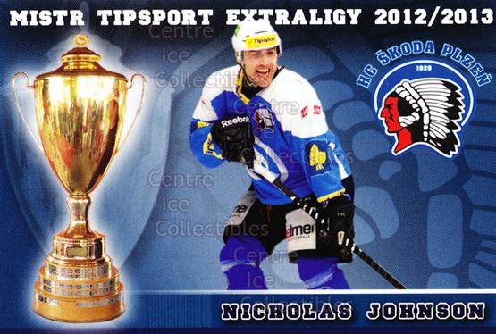 2012-13 Czech HC Plzen Team Issue #7 Nicholas Johnson<br/>2 In Stock - $3.00 each - <a href=https://centericecollectibles.foxycart.com/cart?name=2012-13%20Czech%20HC%20Plzen%20Team%20Issue%20%237%20Nicholas%20Johnso...&quantity_max=2&price=$3.00&code=608868 class=foxycart> Buy it now! </a>