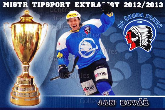 2012-13 Czech HC Plzen Team Issue #9 Jan Kovar<br/>2 In Stock - $3.00 each - <a href=https://centericecollectibles.foxycart.com/cart?name=2012-13%20Czech%20HC%20Plzen%20Team%20Issue%20%239%20Jan%20Kovar...&quantity_max=2&price=$3.00&code=608870 class=foxycart> Buy it now! </a>