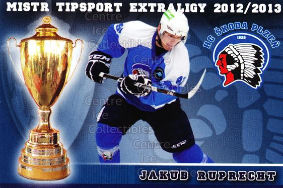 2012-13 Czech HC Plzen Team Issue #17 Jakub Ruprecht<br/>2 In Stock - $3.00 each - <a href=https://centericecollectibles.foxycart.com/cart?name=2012-13%20Czech%20HC%20Plzen%20Team%20Issue%20%2317%20Jakub%20Ruprecht...&quantity_max=2&price=$3.00&code=608878 class=foxycart> Buy it now! </a>