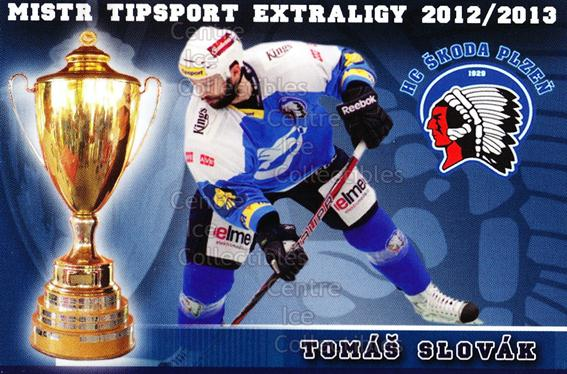 2012-13 Czech HC Plzen Team Issue #19 Tomas Slovak<br/>2 In Stock - $3.00 each - <a href=https://centericecollectibles.foxycart.com/cart?name=2012-13%20Czech%20HC%20Plzen%20Team%20Issue%20%2319%20Tomas%20Slovak...&quantity_max=2&price=$3.00&code=608880 class=foxycart> Buy it now! </a>