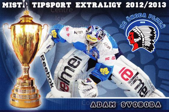 2012-13 Czech HC Plzen Team Issue #21 Adam Svoboda<br/>2 In Stock - $3.00 each - <a href=https://centericecollectibles.foxycart.com/cart?name=2012-13%20Czech%20HC%20Plzen%20Team%20Issue%20%2321%20Adam%20Svoboda...&quantity_max=2&price=$3.00&code=608882 class=foxycart> Buy it now! </a>
