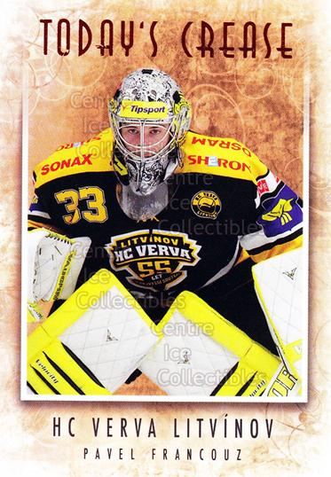2013-14 Czech OFS Masked Stories #136 Pavel Francouz<br/>2 In Stock - $2.00 each - <a href=https://centericecollectibles.foxycart.com/cart?name=2013-14%20Czech%20OFS%20Masked%20Stories%20%23136%20Pavel%20Francouz...&quantity_max=2&price=$2.00&code=609024 class=foxycart> Buy it now! </a>