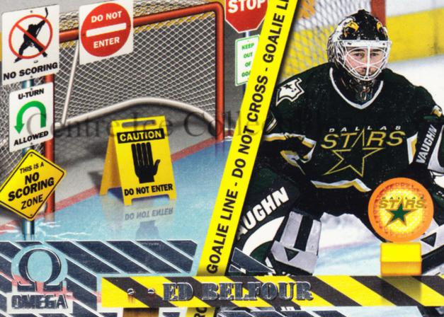 1997-98 Omega No Scoring Zone #3 Ed Belfour<br/>4 In Stock - $3.00 each - <a href=https://centericecollectibles.foxycart.com/cart?name=1997-98%20Omega%20No%20Scoring%20Zone%20%233%20Ed%20Belfour...&price=$3.00&code=60924 class=foxycart> Buy it now! </a>