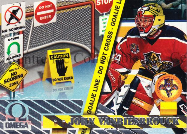 1997-98 Omega No Scoring Zone #5 John Vanbiesbrouck<br/>8 In Stock - $3.00 each - <a href=https://centericecollectibles.foxycart.com/cart?name=1997-98%20Omega%20No%20Scoring%20Zone%20%235%20John%20Vanbiesbro...&quantity_max=8&price=$3.00&code=60926 class=foxycart> Buy it now! </a>