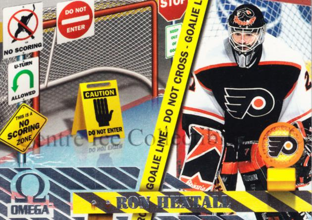 1997-98 Omega No Scoring Zone #9 Ron Hextall<br/>4 In Stock - $3.00 each - <a href=https://centericecollectibles.foxycart.com/cart?name=1997-98%20Omega%20No%20Scoring%20Zone%20%239%20Ron%20Hextall...&quantity_max=4&price=$3.00&code=60929 class=foxycart> Buy it now! </a>