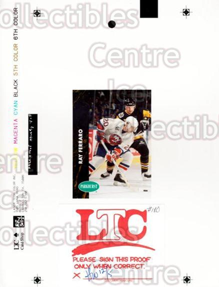 1991-92 Parkhurst French Match Print #110 Ray Ferraro<br/>1 In Stock - $10.00 each - <a href=https://centericecollectibles.foxycart.com/cart?name=1991-92%20Parkhurst%20French%20Match%20Print%20%23110%20Ray%20Ferraro...&quantity_max=1&price=$10.00&code=609691 class=foxycart> Buy it now! </a>