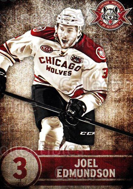 2013-14 Chicago Wolves #15 Joel Edmundson<br/>6 In Stock - $3.00 each - <a href=https://centericecollectibles.foxycart.com/cart?name=2013-14%20Chicago%20Wolves%20%2315%20Joel%20Edmundson...&quantity_max=6&price=$3.00&code=610538 class=foxycart> Buy it now! </a>