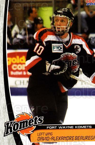 2003-04 Fort Wayne Komets Choice #3 David Beauregard<br/>1 In Stock - $3.00 each - <a href=https://centericecollectibles.foxycart.com/cart?name=2003-04%20Fort%20Wayne%20Komets%20Choice%20%233%20David%20Beauregar...&quantity_max=1&price=$3.00&code=610627 class=foxycart> Buy it now! </a>