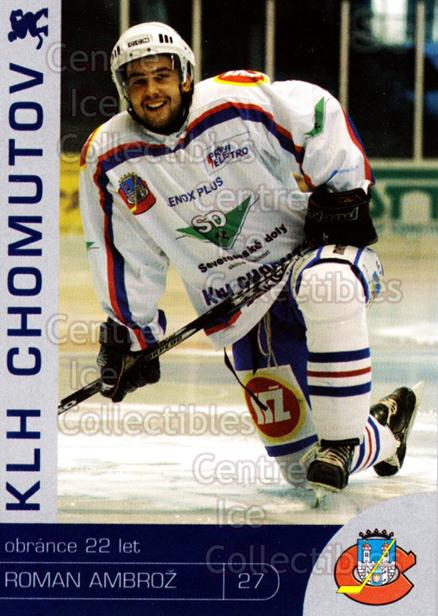 2003-04 Czech KLH Chomutov Team Issue #1 Roman Ambroz<br/>1 In Stock - $3.00 each - <a href=https://centericecollectibles.foxycart.com/cart?name=2003-04%20Czech%20KLH%20Chomutov%20Team%20Issue%20%231%20Roman%20Ambroz...&quantity_max=1&price=$3.00&code=610803 class=foxycart> Buy it now! </a>