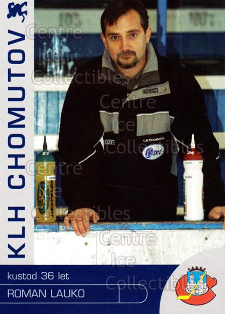 2003-04 Czech KLH Chomutov Team Issue #15 Roman Lauko<br/>1 In Stock - $3.00 each - <a href=https://centericecollectibles.foxycart.com/cart?name=2003-04%20Czech%20KLH%20Chomutov%20Team%20Issue%20%2315%20Roman%20Lauko...&quantity_max=1&price=$3.00&code=610817 class=foxycart> Buy it now! </a>