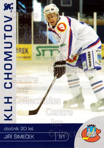 2003-04 Czech KLH Chomutov Team Issue #26 Jiri Simecek<br/>1 In Stock - $3.00 each - <a href=https://centericecollectibles.foxycart.com/cart?name=2003-04%20Czech%20KLH%20Chomutov%20Team%20Issue%20%2326%20Jiri%20Simecek...&quantity_max=1&price=$3.00&code=610828 class=foxycart> Buy it now! </a>