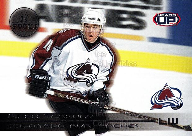 2003-04 Heads-Up In Focus #5 Alex Tanguay<br/>2 In Stock - $3.00 each - <a href=https://centericecollectibles.foxycart.com/cart?name=2003-04%20Heads-Up%20In%20Focus%20%235%20Alex%20Tanguay...&quantity_max=2&price=$3.00&code=610840 class=foxycart> Buy it now! </a>