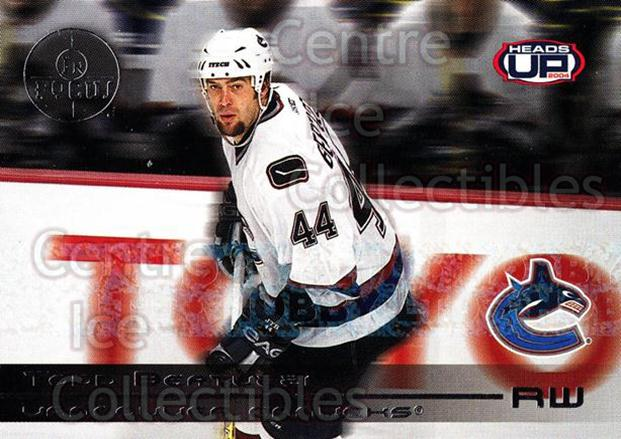2003-04 Heads-Up In Focus LTD #10 Todd Bertuzzi<br/>1 In Stock - $5.00 each - <a href=https://centericecollectibles.foxycart.com/cart?name=2003-04%20Heads-Up%20In%20Focus%20LTD%20%2310%20Todd%20Bertuzzi...&quantity_max=1&price=$5.00&code=610843 class=foxycart> Buy it now! </a>