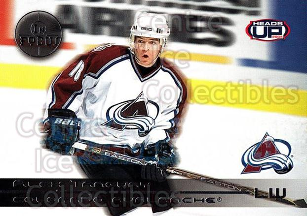 2003-04 Heads-Up In Focus LTD #5 Alex Tanguay<br/>1 In Stock - $5.00 each - <a href=https://centericecollectibles.foxycart.com/cart?name=2003-04%20Heads-Up%20In%20Focus%20LTD%20%235%20Alex%20Tanguay...&quantity_max=1&price=$5.00&code=610850 class=foxycart> Buy it now! </a>