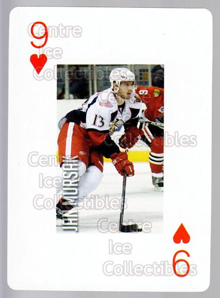 2011-12 Grand Rapids Griffins Playing Card #35 Jan Mursak<br/>1 In Stock - $3.00 each - <a href=https://centericecollectibles.foxycart.com/cart?name=2011-12%20Grand%20Rapids%20Griffins%20Playing%20Card%20%2335%20Jan%20Mursak...&price=$3.00&code=610938 class=foxycart> Buy it now! </a>