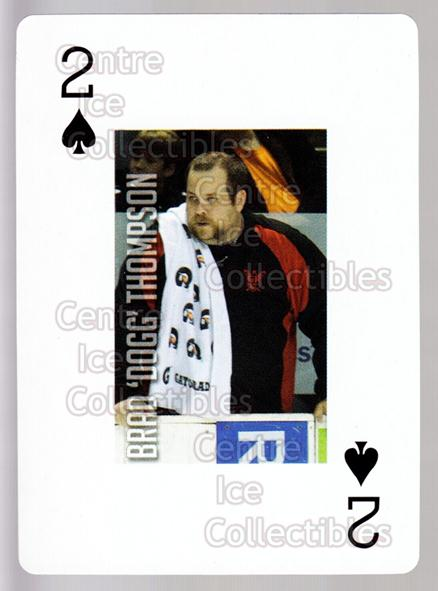 2011-12 Grand Rapids Griffins Playing Card #41 Brad Thompson<br/>1 In Stock - $3.00 each - <a href=https://centericecollectibles.foxycart.com/cart?name=2011-12%20Grand%20Rapids%20Griffins%20Playing%20Card%20%2341%20Brad%20Thompson...&price=$3.00&code=610944 class=foxycart> Buy it now! </a>