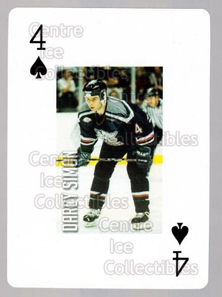 2011-12 Grand Rapids Griffins Playing Card #43 Darcy Simon<br/>1 In Stock - $3.00 each - <a href=https://centericecollectibles.foxycart.com/cart?name=2011-12%20Grand%20Rapids%20Griffins%20Playing%20Card%20%2343%20Darcy%20Simon...&price=$3.00&code=610946 class=foxycart> Buy it now! </a>