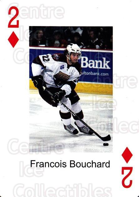 2009-10 Hershey Bears Playing Card #2 Francois Bouchard<br/>1 In Stock - $3.00 each - <a href=https://centericecollectibles.foxycart.com/cart?name=2009-10%20Hershey%20Bears%20Playing%20Card%20%232%20Francois%20Boucha...&quantity_max=1&price=$3.00&code=610959 class=foxycart> Buy it now! </a>