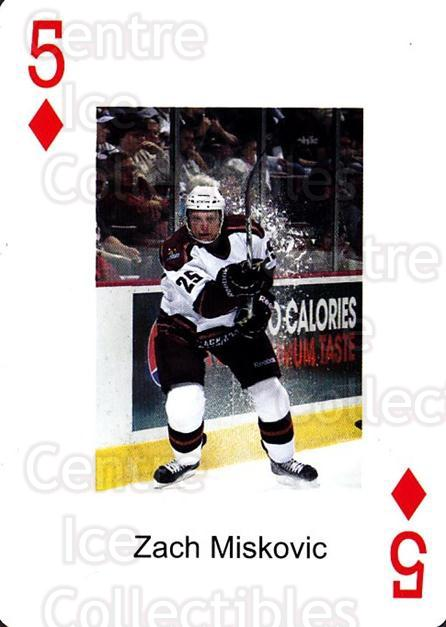 2009-10 Hershey Bears Playing Card #5 Zach Miskovic<br/>1 In Stock - $3.00 each - <a href=https://centericecollectibles.foxycart.com/cart?name=2009-10%20Hershey%20Bears%20Playing%20Card%20%235%20Zach%20Miskovic...&quantity_max=1&price=$3.00&code=610962 class=foxycart> Buy it now! </a>