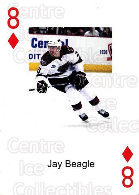 2009-10 Hershey Bears Playing Card #8 Jay Beagle<br/>2 In Stock - $3.00 each - <a href=https://centericecollectibles.foxycart.com/cart?name=2009-10%20Hershey%20Bears%20Playing%20Card%20%238%20Jay%20Beagle...&quantity_max=2&price=$3.00&code=610965 class=foxycart> Buy it now! </a>