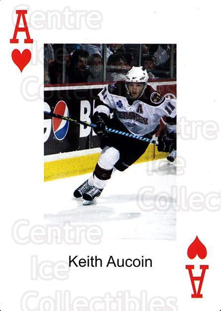 2009-10 Hershey Bears Playing Card #14 Keith Aucoin<br/>1 In Stock - $3.00 each - <a href=https://centericecollectibles.foxycart.com/cart?name=2009-10%20Hershey%20Bears%20Playing%20Card%20%2314%20Keith%20Aucoin...&quantity_max=1&price=$3.00&code=610971 class=foxycart> Buy it now! </a>