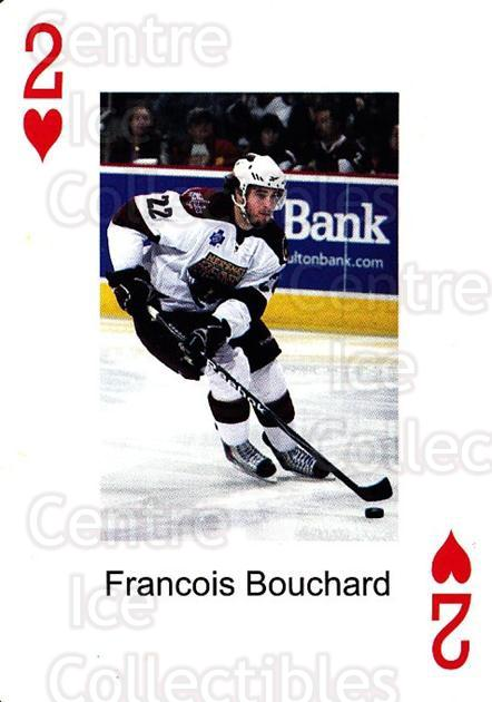 2009-10 Hershey Bears Playing Card #15 Francois Bouchard<br/>1 In Stock - $3.00 each - <a href=https://centericecollectibles.foxycart.com/cart?name=2009-10%20Hershey%20Bears%20Playing%20Card%20%2315%20Francois%20Boucha...&quantity_max=1&price=$3.00&code=610972 class=foxycart> Buy it now! </a>