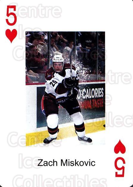 2009-10 Hershey Bears Playing Card #18 Zach Miskovic<br/>1 In Stock - $3.00 each - <a href=https://centericecollectibles.foxycart.com/cart?name=2009-10%20Hershey%20Bears%20Playing%20Card%20%2318%20Zach%20Miskovic...&quantity_max=1&price=$3.00&code=610975 class=foxycart> Buy it now! </a>