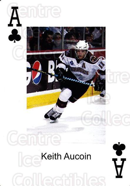 2009-10 Hershey Bears Playing Card #27 Keith Aucoin<br/>1 In Stock - $3.00 each - <a href=https://centericecollectibles.foxycart.com/cart?name=2009-10%20Hershey%20Bears%20Playing%20Card%20%2327%20Keith%20Aucoin...&quantity_max=1&price=$3.00&code=610984 class=foxycart> Buy it now! </a>