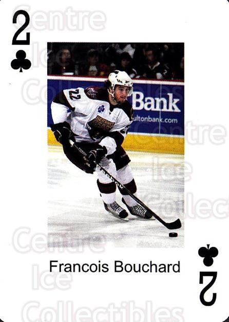 2009-10 Hershey Bears Playing Card #28 Francois Bouchard<br/>1 In Stock - $3.00 each - <a href=https://centericecollectibles.foxycart.com/cart?name=2009-10%20Hershey%20Bears%20Playing%20Card%20%2328%20Francois%20Boucha...&quantity_max=1&price=$3.00&code=610985 class=foxycart> Buy it now! </a>