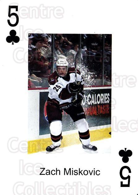 2009-10 Hershey Bears Playing Card #31 Zach Miskovic<br/>1 In Stock - $3.00 each - <a href=https://centericecollectibles.foxycart.com/cart?name=2009-10%20Hershey%20Bears%20Playing%20Card%20%2331%20Zach%20Miskovic...&quantity_max=1&price=$3.00&code=610988 class=foxycart> Buy it now! </a>