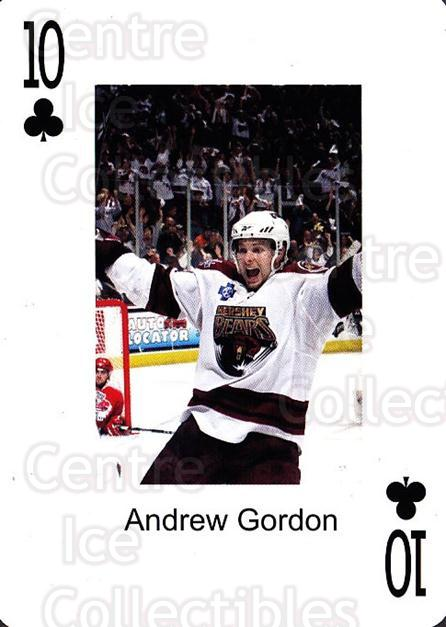 2009-10 Hershey Bears Playing Card #36 Andrew Gordon<br/>2 In Stock - $3.00 each - <a href=https://centericecollectibles.foxycart.com/cart?name=2009-10%20Hershey%20Bears%20Playing%20Card%20%2336%20Andrew%20Gordon...&quantity_max=2&price=$3.00&code=610993 class=foxycart> Buy it now! </a>