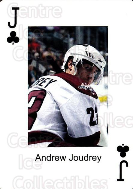 2009-10 Hershey Bears Playing Card #37 Andrew Joudrey<br/>1 In Stock - $3.00 each - <a href=https://centericecollectibles.foxycart.com/cart?name=2009-10%20Hershey%20Bears%20Playing%20Card%20%2337%20Andrew%20Joudrey...&quantity_max=1&price=$3.00&code=610994 class=foxycart> Buy it now! </a>
