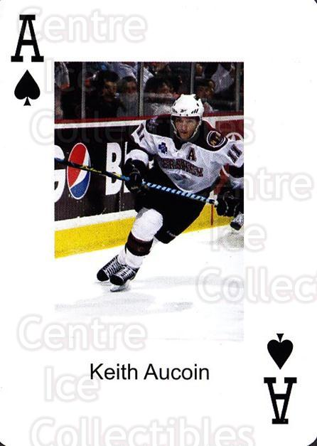 2009-10 Hershey Bears Playing Card #40 Keith Aucoin<br/>1 In Stock - $3.00 each - <a href=https://centericecollectibles.foxycart.com/cart?name=2009-10%20Hershey%20Bears%20Playing%20Card%20%2340%20Keith%20Aucoin...&quantity_max=1&price=$3.00&code=610997 class=foxycart> Buy it now! </a>