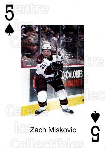 2009-10 Hershey Bears Playing Card #44 Zach Miskovic<br/>1 In Stock - $3.00 each - <a href=https://centericecollectibles.foxycart.com/cart?name=2009-10%20Hershey%20Bears%20Playing%20Card%20%2344%20Zach%20Miskovic...&quantity_max=1&price=$3.00&code=611001 class=foxycart> Buy it now! </a>