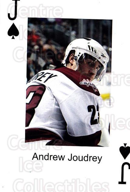 2009-10 Hershey Bears Playing Card #50 Andrew Joudrey<br/>2 In Stock - $3.00 each - <a href=https://centericecollectibles.foxycart.com/cart?name=2009-10%20Hershey%20Bears%20Playing%20Card%20%2350%20Andrew%20Joudrey...&quantity_max=2&price=$3.00&code=611007 class=foxycart> Buy it now! </a>