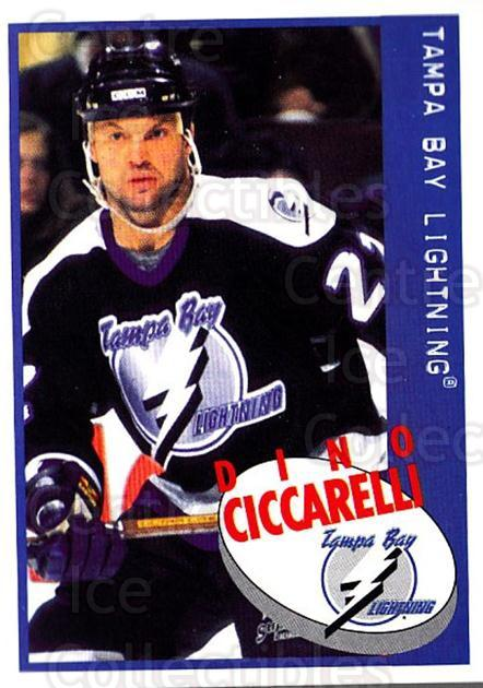 1997-98 Panini Stickers #100 Dino Ciccarelli<br/>6 In Stock - $1.00 each - <a href=https://centericecollectibles.foxycart.com/cart?name=1997-98%20Panini%20Stickers%20%23100%20Dino%20Ciccarelli...&quantity_max=6&price=$1.00&code=61110 class=foxycart> Buy it now! </a>