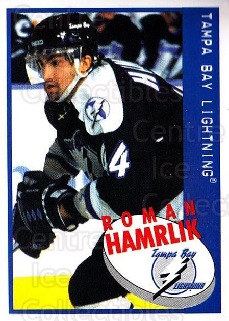 1997-98 Panini Stickers #101 Roman Hamrlik<br/>6 In Stock - $1.00 each - <a href=https://centericecollectibles.foxycart.com/cart?name=1997-98%20Panini%20Stickers%20%23101%20Roman%20Hamrlik...&quantity_max=6&price=$1.00&code=61111 class=foxycart> Buy it now! </a>
