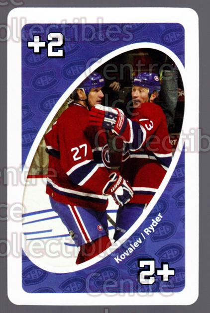 2007-08 Montreal Canadiens UNO #26 Alexei Kovalev, Michael Ryder<br/>4 In Stock - $3.00 each - <a href=https://centericecollectibles.foxycart.com/cart?name=2007-08%20Montreal%20Canadiens%20UNO%20%2326%20Alexei%20Kovalev,...&quantity_max=4&price=$3.00&code=611125 class=foxycart> Buy it now! </a>