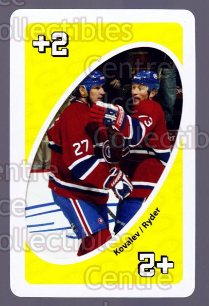 2007-08 Montreal Canadiens UNO #39 Alexei Kovalev, Michael Ryder<br/>4 In Stock - $3.00 each - <a href=https://centericecollectibles.foxycart.com/cart?name=2007-08%20Montreal%20Canadiens%20UNO%20%2339%20Alexei%20Kovalev,...&quantity_max=4&price=$3.00&code=611138 class=foxycart> Buy it now! </a>