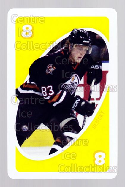 2007-08 Edmonton Oilers Mattel UNO #35 Ales Hemsky<br/>4 In Stock - $3.00 each - <a href=https://centericecollectibles.foxycart.com/cart?name=2007-08%20Edmonton%20Oilers%20Mattel%20UNO%20%2335%20Ales%20Hemsky...&quantity_max=4&price=$3.00&code=611189 class=foxycart> Buy it now! </a>