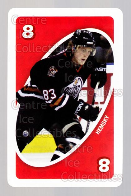 2007-08 Edmonton Oilers Mattel UNO #48 Ales Hemsky<br/>4 In Stock - $3.00 each - <a href=https://centericecollectibles.foxycart.com/cart?name=2007-08%20Edmonton%20Oilers%20Mattel%20UNO%20%2348%20Ales%20Hemsky...&quantity_max=4&price=$3.00&code=611202 class=foxycart> Buy it now! </a>
