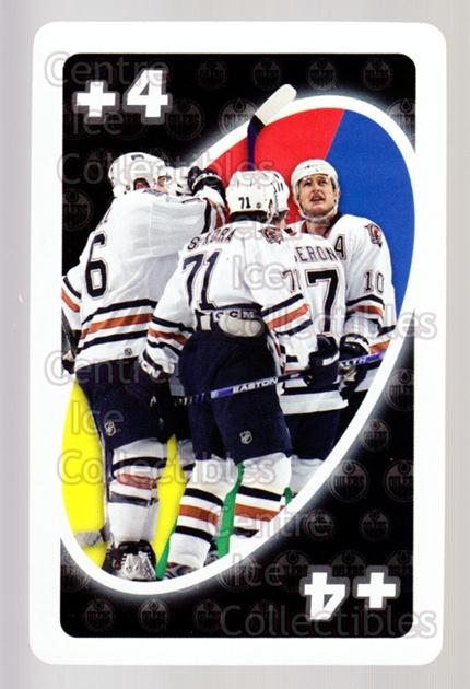2007-08 Edmonton Oilers Mattel UNO #55 Petr Sykora, Shawn Horcoff, Marc-Andre Bergeron, Edmonton Oilers<br/>6 In Stock - $3.00 each - <a href=https://centericecollectibles.foxycart.com/cart?name=2007-08%20Edmonton%20Oilers%20Mattel%20UNO%20%2355%20Petr%20Sykora,%20Sh...&quantity_max=6&price=$3.00&code=611209 class=foxycart> Buy it now! </a>
