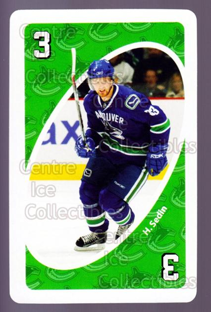 2007-08 Vancouver Canucks Mattel UNO #4 Henrik Sedin<br/>4 In Stock - $3.00 each - <a href=https://centericecollectibles.foxycart.com/cart?name=2007-08%20Vancouver%20Canucks%20Mattel%20UNO%20%234%20Henrik%20Sedin...&quantity_max=4&price=$3.00&code=611213 class=foxycart> Buy it now! </a>