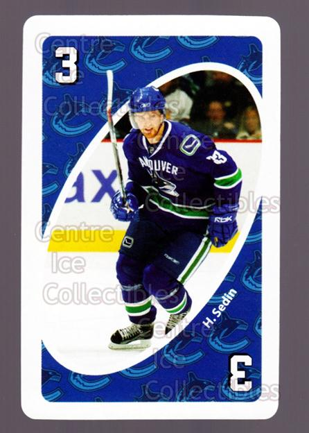 2007-08 Vancouver Canucks Mattel UNO #17 Henrik Sedin<br/>4 In Stock - $3.00 each - <a href=https://centericecollectibles.foxycart.com/cart?name=2007-08%20Vancouver%20Canucks%20Mattel%20UNO%20%2317%20Henrik%20Sedin...&quantity_max=4&price=$3.00&code=611226 class=foxycart> Buy it now! </a>