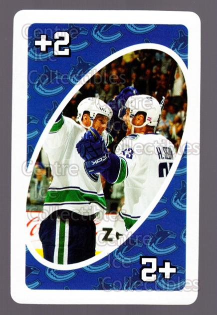 2007-08 Vancouver Canucks Mattel UNO #26 Henrik Sedin<br/>4 In Stock - $3.00 each - <a href=https://centericecollectibles.foxycart.com/cart?name=2007-08%20Vancouver%20Canucks%20Mattel%20UNO%20%2326%20Henrik%20Sedin...&quantity_max=4&price=$3.00&code=611235 class=foxycart> Buy it now! </a>